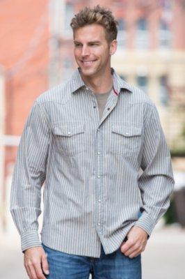 Castle Indigo Stripe Cotton Shirt