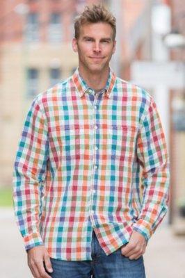 Echo Summer Check Cotton Shirt