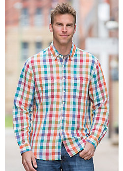 Echo Summer Check Cotton Shirt
