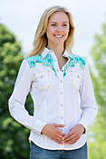 Women's Bucking Horse Gingham Yoke Shirt