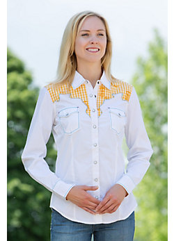 Women's Aztec Boots Cotton Yoke Shirt