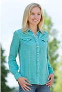 Women's Aztec Boots Cotton Shirt