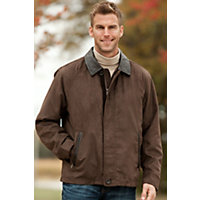 Men's Bayfield Suede Twill Jacket, Hawk, Size Large (44-46) Western & Country