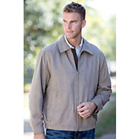 Men's Omaha Microsuede Jacket, Taupe, Size Large (44-46) Western & Country