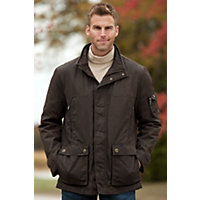 Men's Rainforest Liam Waxed Nylon Down Jacket, Tarmac, Size Large (44-46) Western & Country