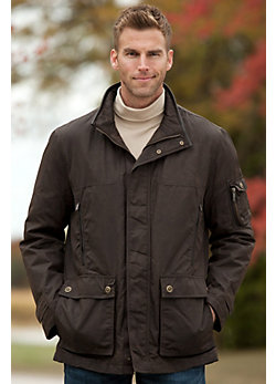 Men's Rainforest Liam Waxed Nylon Down Jacket