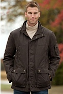 Men's Rainforest Liam Waxed Nylon Down Jacket