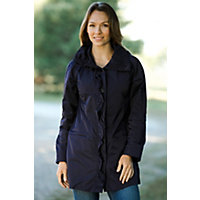Women's Annette Ruffle-Front Rain Jacket, Ink, Size Large (12) Western & Country