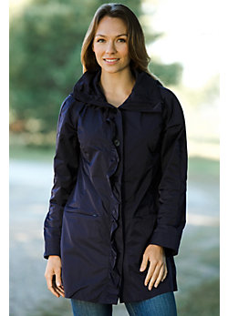 Women's Rainforest Annette Ruffle-Front Rain Jacket