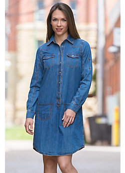 Ryan Michael Denim Shirt Dress