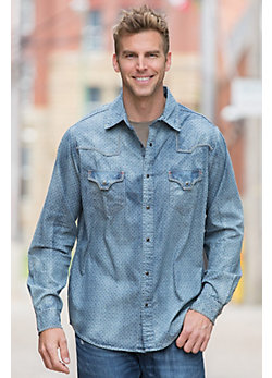 Ryan Michael Goshen Denim Cotton Shirt
