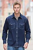 Ryan Michael Rodeo Jacquard Cotton Shirt