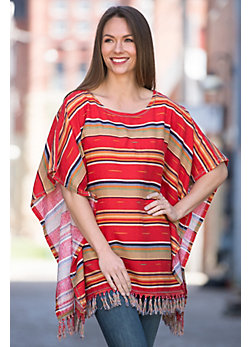 Ryan Michael Serape Summer Poncho