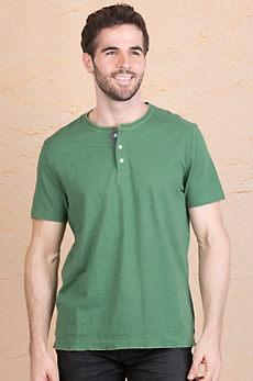 Jeremiah Abe Cotton Henley Shirt