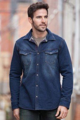Yuma Cotton Fleece Western Shirt Jacket