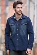 Men's Yuma Cotton Fleece Western Shirt Jacket