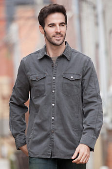 Jeremiah Colt Sueded Cotton-Blend Shirt