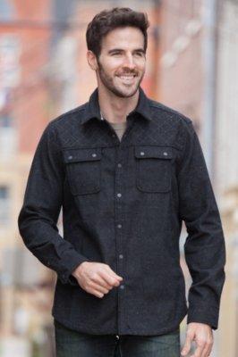Huntley Melton Cotton and Wool Shirt Jacket
