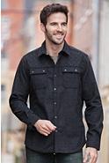 Men's Huntley Melton Cotton and Wool Shirt Jacket