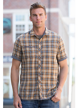 Finney Plaid Reversible Cotton Shirt