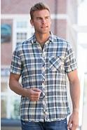 Fletcher Ikat Herringbone Cotton Shirt