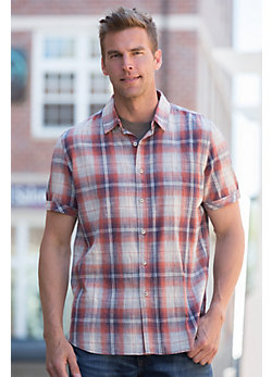 Stonehill Plaid Woven Cotton Shirt