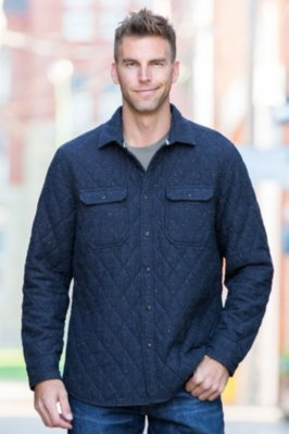 Ramsey Quilted Cotton Shirt Jacket