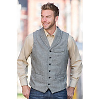 1920s Style Mens Vests Jeremiah Benjamin Wool-Blend Vest METAL HEATHER Size XXLARGE 48-50 $98.00 AT vintagedancer.com