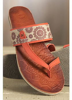 Women's Cushe Dayglow Leather Slide Sandals