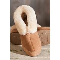 Men's Acorn Sheepskin Slippers, Walnut, Size 11 Western & Country