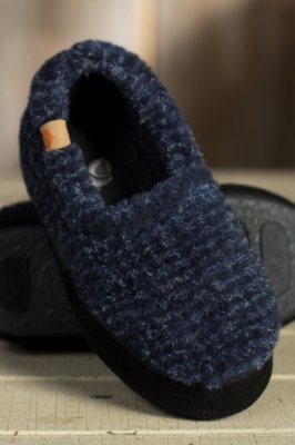 Children's Acorn Fleece Moccasin Slippers