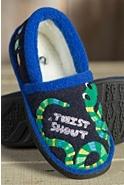 Children's Acorn Appliqué Moccasin Slippers