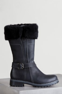 Women's Overland Adelyn Shearling-Lined Leather Boots