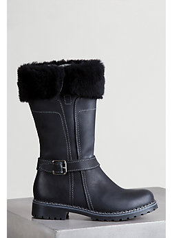 Women's Adelyn Tall Leather Boots with Shearling Lining