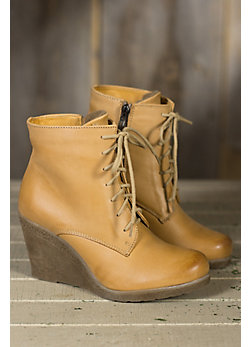 Women's Bixby Leather Wedge Boots
