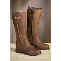 Women's Overland Debra Wool-Lined Leather Boots, BROWN 88