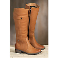 Women's Overland Abbey Fleece-Lined Leather Boots, FIONA BROWN