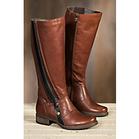 Women's Overland Beth Fleece-Lined Leather Boots, FIONA MID BROWN