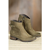 Women's Overland Sally Wool-Lined Leather Boots, OLIVE