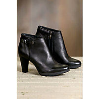 Women's Overland Gabrielle Leather Ankle Boots, BLACK 41