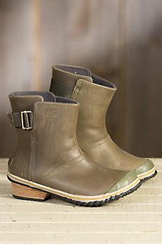 Women's Sorel Slimshortie Waterproof Leather Boots
