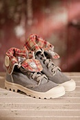 Women's Baggy Canvas Stonewashed Boots