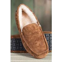 Men's Aiden Sheepskin Slippers, Chestnut, Size 12 Western & Country