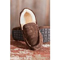 Men's Aiden Sheepskin Slippers, Espresso, Size 13 Western & Country