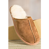 Men's Overland Scuff Sheepskin Slippers, Chestnut, Size 10 Western & Country