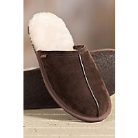 Men's Overland Scuff Sheepskin Slippers, Espresso, Size 9 Western & Country