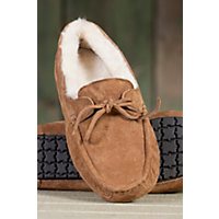 Men's Mason Moccasin Sheepskin Slippers, Chestnut, Size 11 Western & Country