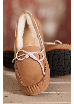 Women's Madison Moccasin Sheepskin Slippers
