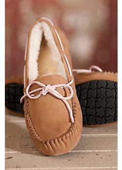 Women's Madison Moccasin Sheepskin Slippers