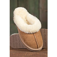 Women's Olivia Sheepskin Slippers, Chestnut, Size 8 Western & Country